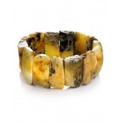 """Beautiful Bracelet """"Pompeii"""" of solid amber with beautiful texture"""