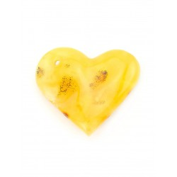 "Pendant natural Baltic amber ""Heart of a landscape"""