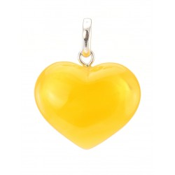"Pendant made of natural amber ""Heart of honey"""