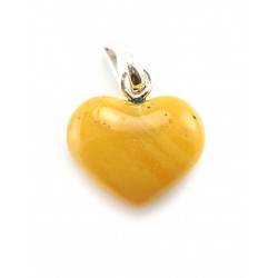 "Pendant made of natural amber ""Heart"" dark honey-colored"