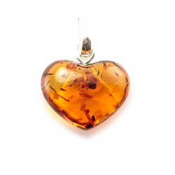 "Pendant light roasted amber ""Heart"""