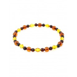 A small tri-color bracelet amber balls and cones