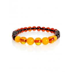 """Charming bracelet with natural amber of different shades of """"Beijing"""""""