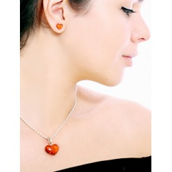 "Pendant natural Baltic amber ""Heart"" rich cognac"