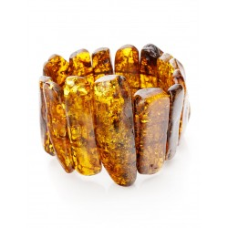 """A wide band of whole sections of natural amber """"Pompei"""""""