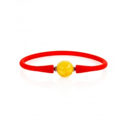"""Silicone bracelet decorated with natural amber """"Hawaii"""""""