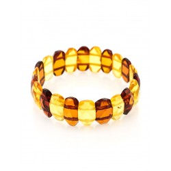 "Stylish bracelet made of natural Baltic amber ""Bicolor verge"""