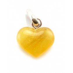 "Amber pendant ""Heart"" dark honey-colored"