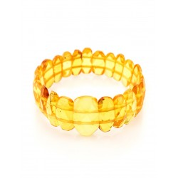 "Bright bracelet made of natural Baltic amber ""Facets of lemon"""