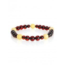 """Bright bracelet natural amber in two colors """"Beijing"""""""