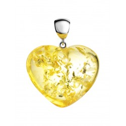 Bright Amber heart of sparkling lemon amber