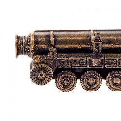Scale model of the Russian Strategic Rocket Launcher Topol (SS-25 Sickle) (1:200), bronze