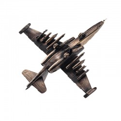 Scale model of the Russian SU-25 Strike-fighter (1:72), bronze