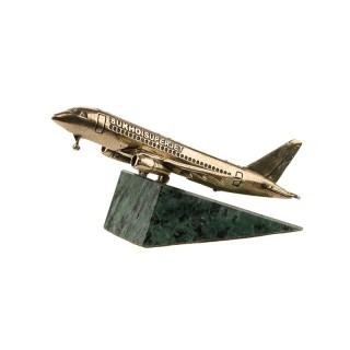 Scale model of the Russian Sukhoi Superjet 100 Aircraft, bronze