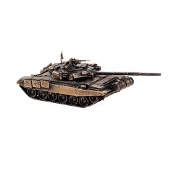 Scale model of the Russian T-90 Model Tank (1:72), bronze