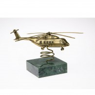 MI-38 Helicopter Model (1:144) on Natural Stone