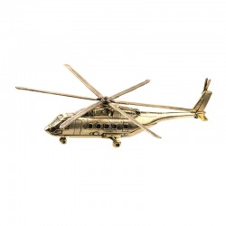 Scale model of the Russian MI-38 Helicopter (1:144), bronze