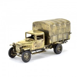Scale model of the Russian Military Truck GAZ-MM 1943 (1:35), bronze