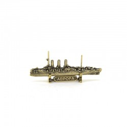 Russian Cruiser Aurora figurine, bronze