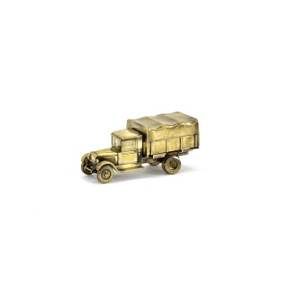 Scale model of the Russian 3-ton Military Truck ZIS-5 (1:100), bronze