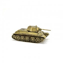 Scale model of the Russian T-34/76 tank, Model 1943 (1:72), bronze