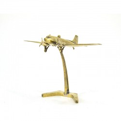 Scale model of the Russian LI-2 1942-1945 Warcraft (1:200), bronze