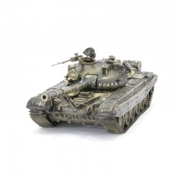 Scale model of the Russian T-72A Tank Model (1:35), bronze