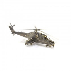 Scale model of the Russian MI-24V Crocodile Helicopter (1:72), bronze