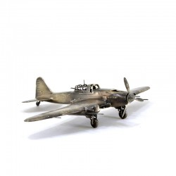 Scale model of the Russian IL-2 Strike-fighter (1:72), bronze