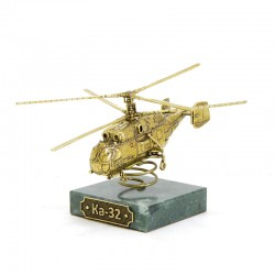 Scale model of the Russian KA-32 Helicopter (1:100), bronze