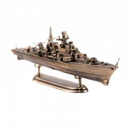 Scale model of the Russian Warship Sovremnnyy (1:700), bronze