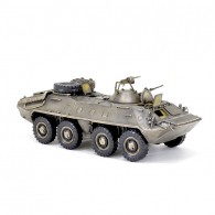 Scale model of the Russian armored personnel carrier BTR-70 Armored Fighting Vehicle Model (1:35), bronze