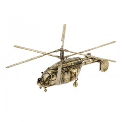 Scale model of the Russian KA-226T Helicopter, bronze