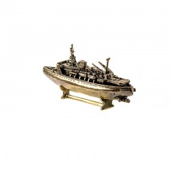 Scale model of the Russian Icebreaker Krasin (1:665), bronze