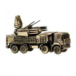 Scale model of the Russian Pantsir-S1 (1:90), bronze