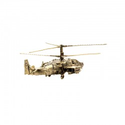 Scale model of the Russian KA-52 Alligator Helicopter (1:100), bronze
