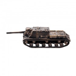 Scale model of the Russian ISU-152 Self-propelled Gun (1:72), bronze