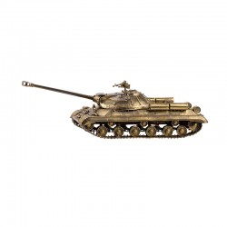 Scale model of the Russian IS-3 Tank Model (1:35), bronze
