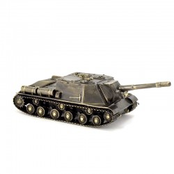 Scale model of the Russian ISU-152 (1:35), bronze