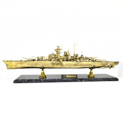 Scale model of the Russian Battleship Bismarck (1:350), bronze