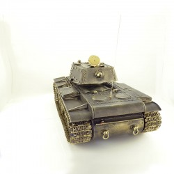 Radio-controlled scale model of the Russian KV-1 Tank (1:16), bronze