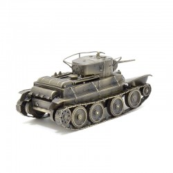 Scale model of the Russian BT-5 Tank Model (1:35), bronze