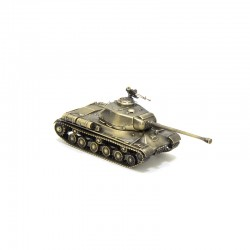 Scale model of the Russian IS-2 Tank Model (1:72), bronze