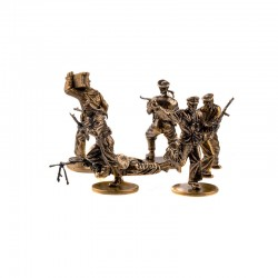 Set of Soldiers (6 items) Soviet Marine Infantry 1941-1943 (1:35), bronze