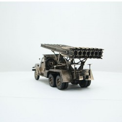Scale model of the Russian Rocket Launcher BM-13 Katusha (1:35), bronze