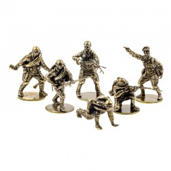 Set of Soldiers, Red Army Infantry (6 items, 1:35), bronze