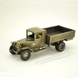 Scale model of the Russian 3-ton Military Truck ZIS-5V (1:35), bronze