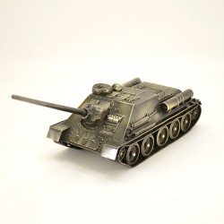 Scale model of the Russian SU-100 (1:35), bronze