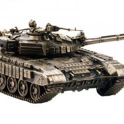 Scale model of the Russian T-72B Tank (1:35), bronze
