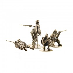Set of Soldiers, Soviet Shooters (5 items, 1:35), bronze